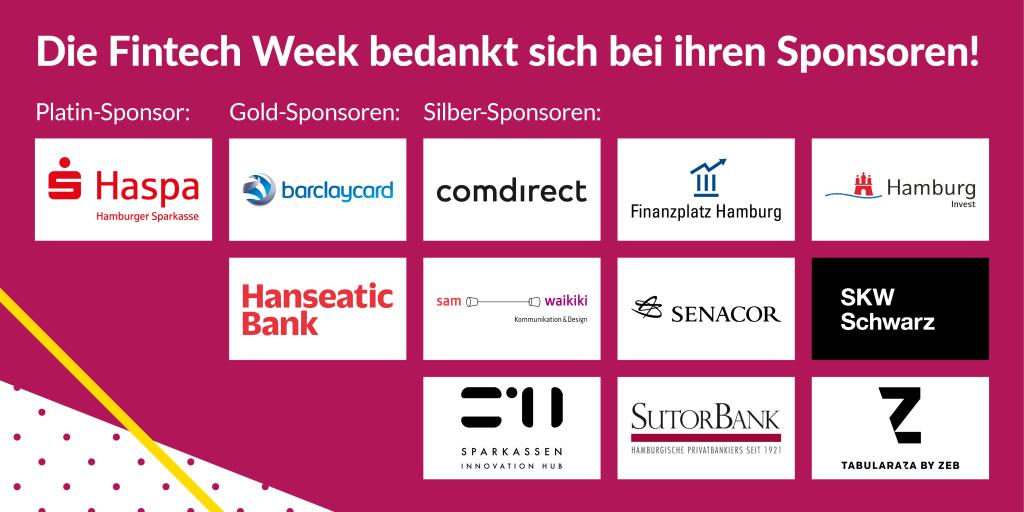 Dank an die Sponsoren der Fintech Week 2018