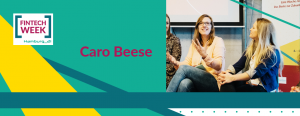 Caro moderiert ein Event der Fintech Ladies in 2017